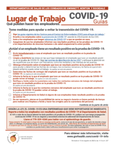 Workplace Guidance Spanish