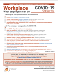 COVID-19 Guidance - Workplace