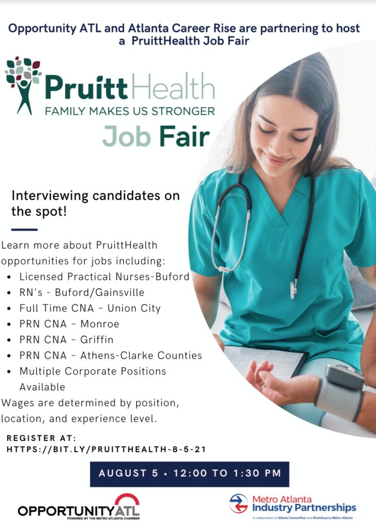 PruittHealth Virtual Job Fair Flyer