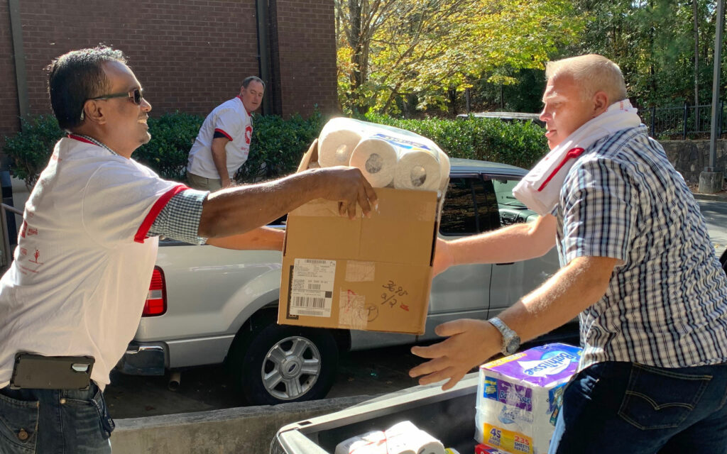 Sheriff Delivering Donated Goods