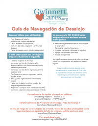 Eviction Navigation Guide - Spanish
